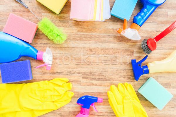 Pulizie di primavera colorato ufficio acqua lavoro home Foto d'archivio © neirfy