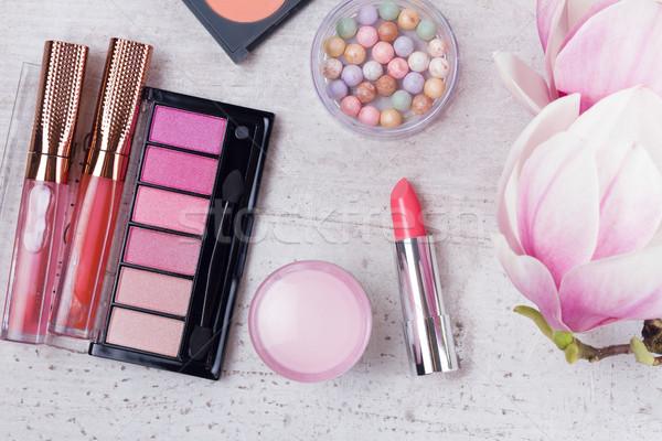 Smink szépségipari termékek profi arc terv vásárlás Stock fotó © neirfy