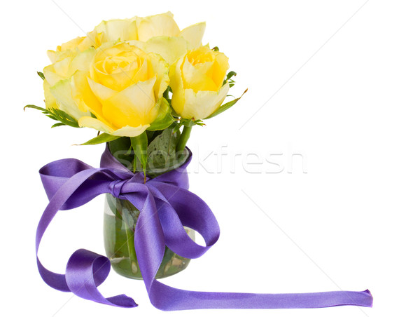yellow roses posy Stock photo © neirfy
