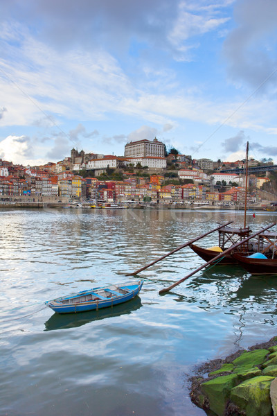 Stock photo: bishops palace and Rabelo boats,  Porto