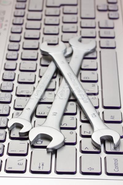 Bilgisayar teknik destek laptop klavye ofis Internet çalışmak Stok fotoğraf © neirfy