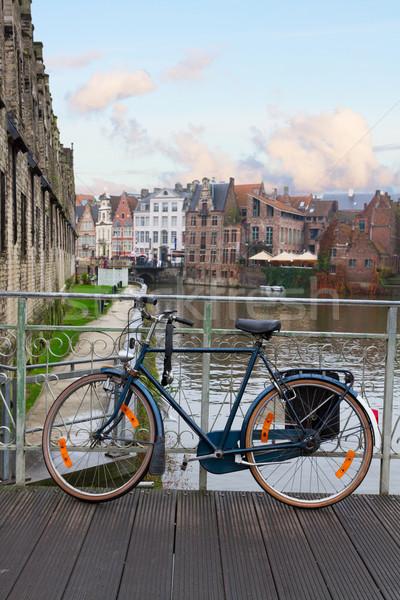 Scena starówka rower most rowerów podróży Zdjęcia stock © neirfy