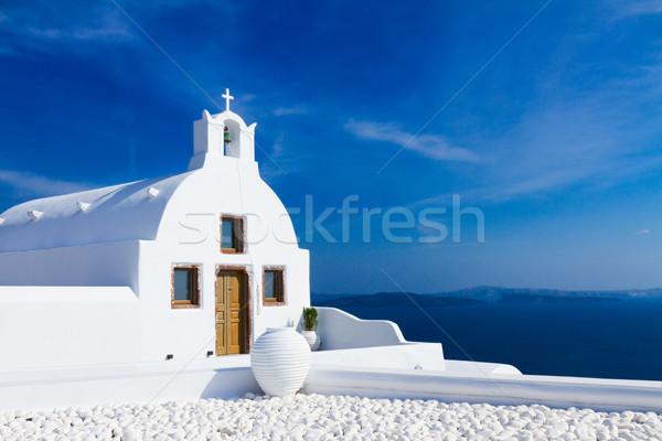 Foto stock: Hermosa · detalles · santorini · isla · Grecia · típico