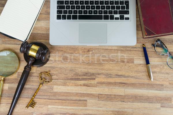 Workspace герой прав правовой книга Сток-фото © neirfy