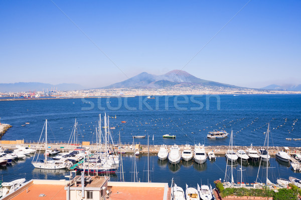 Napoli volkan İtalya liman manzara yaz Stok fotoğraf © neirfy