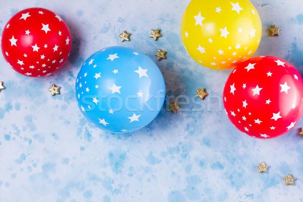 Parlak renkli karnaval parti sahne balonlar Stok fotoğraf © neirfy
