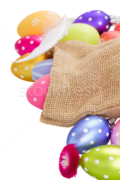 easter eggs in pouch Stock photo © neirfy