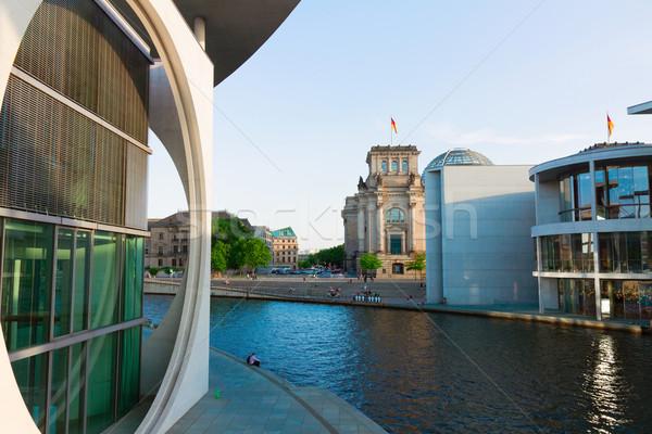 embankment of Spree, cityscape, Berlin, Germany Stock photo © neirfy