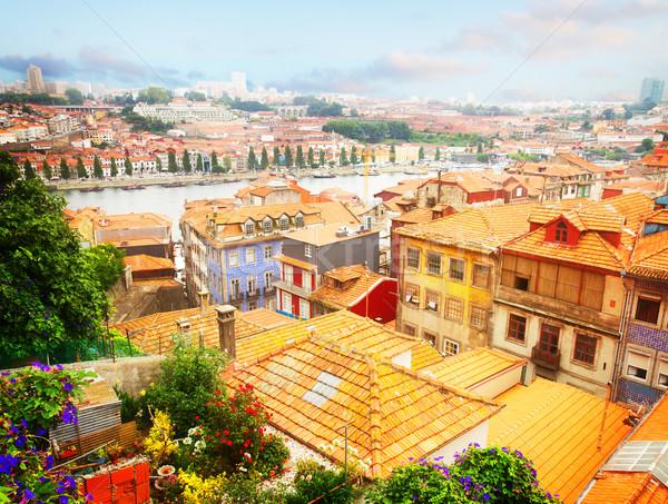 古い 住宅 ポルトガル カラフル 歴史的 町 ストックフォト © neirfy