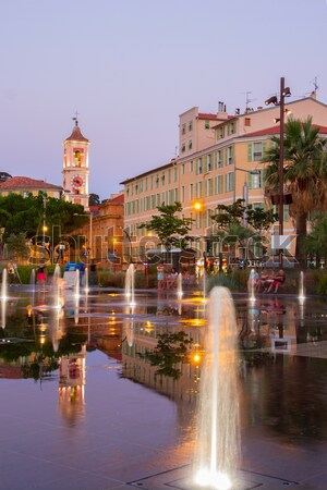 cityscape of Nice at night Stock photo © neirfy