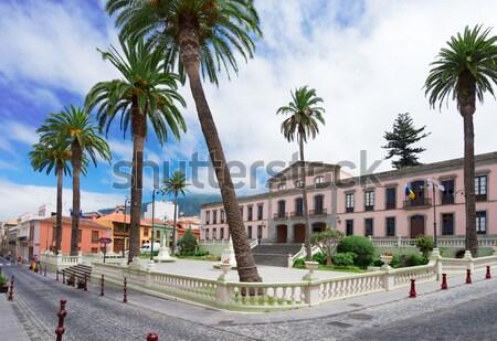 La tenerife aldeia pequena cidade Espanha céu Foto stock © neirfy