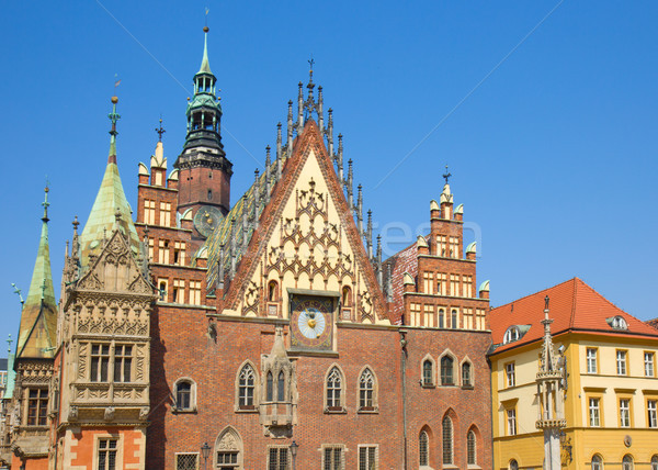 city hall  facade,  Wroclaw, Poland Stock photo © neirfy