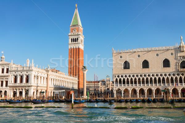 Carré bord de l'eau Venise Italie ciel Photo stock © neirfy