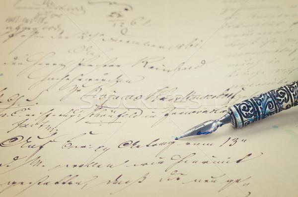Stock foto: Feder · Stift · Schreiben · alten · handschriftlich · Retro