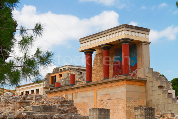 Stock photo: Knossos palace at Crete, Greece