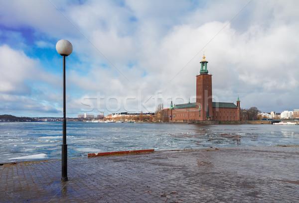 Estocolmo Suécia cidade ouvir cedo primavera Foto stock © neirfy