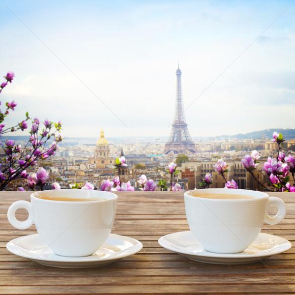 Copo · café · Paris · dois · café - foto stock © Anastasy ...
