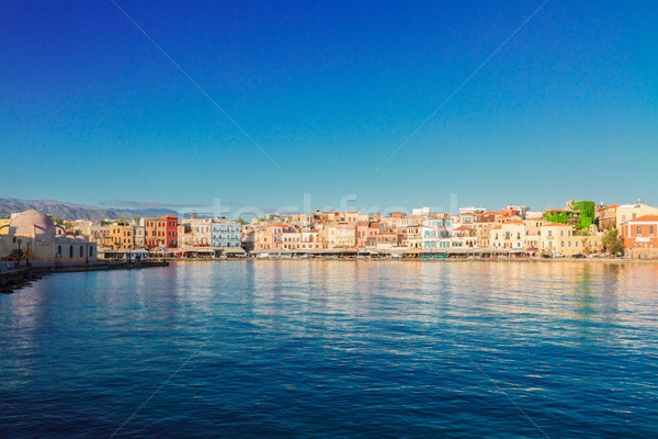 clear water of Chania habour, Crete, Greece Stock photo © neirfy