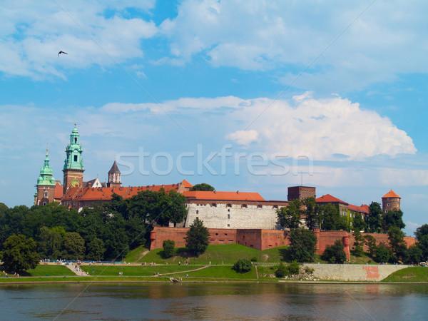 Királyi kastély Krakkó Lengyelország belső domb Stock fotó © neirfy