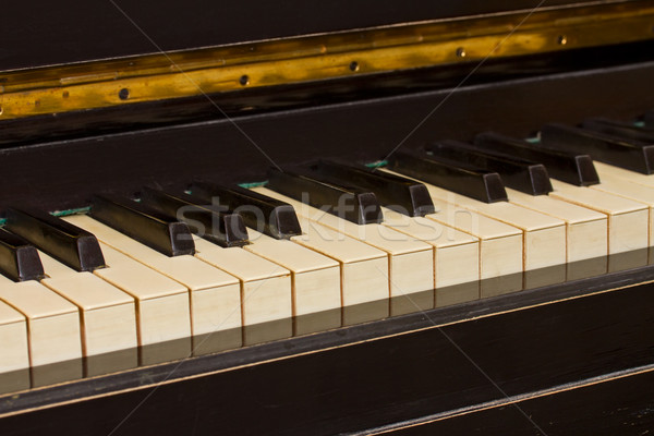 vintage piano keyboard Stock photo © neirfy