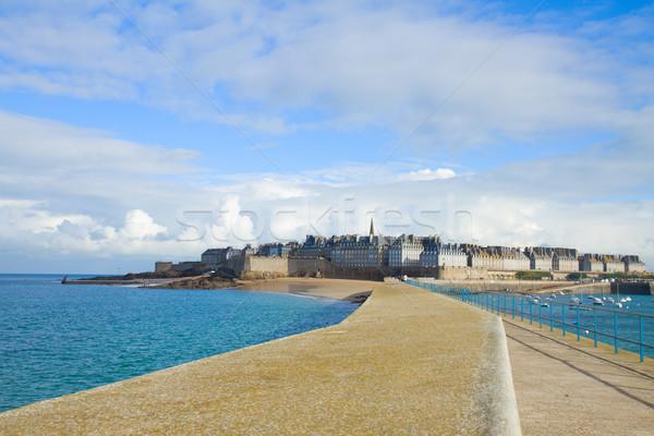 Saint Malo cityscape, France Stock photo © neirfy
