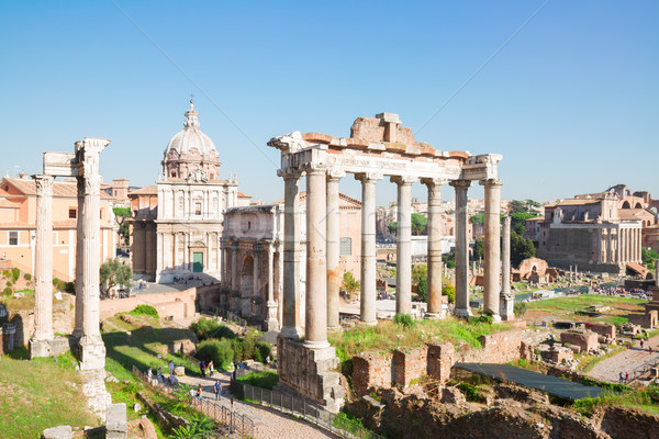 Forum romaine ruines Rome Italie Photo stock © neirfy