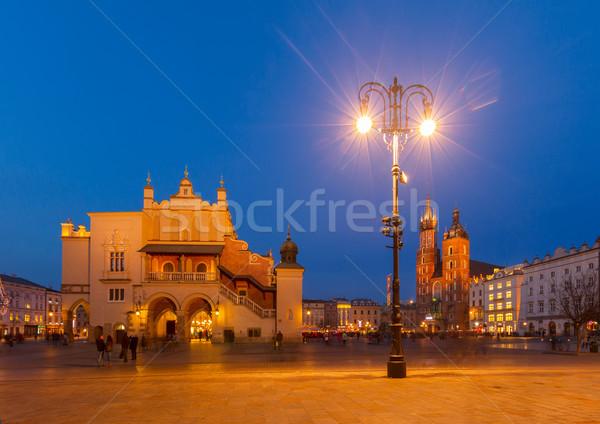市場 広場 クラクフ ポーランド 大聖堂 空 ストックフォト © neirfy
