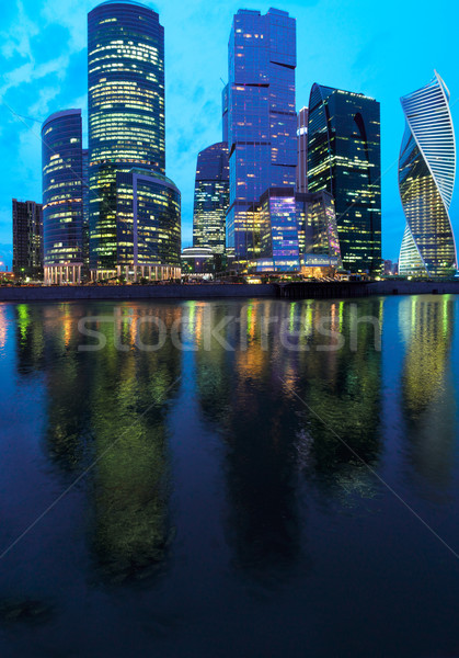 Moscow city at night Stock photo © neirfy