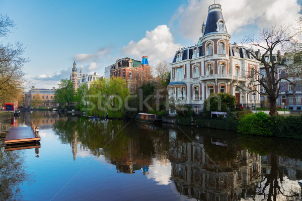 Une Amsterdam paysages vieille ville Pays-Bas Photo stock © neirfy