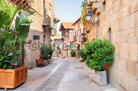 улице Афины Греция небольшой район акрополь Сток-фото © neirfy