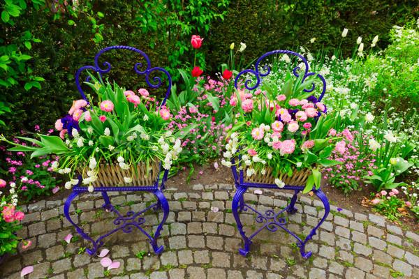 Stock photo: Spring garden decorations