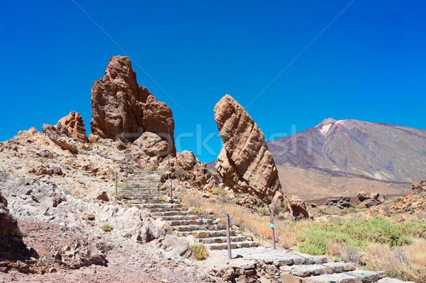 Tenerife eiland vallei hemel natuur berg Stockfoto © neirfy