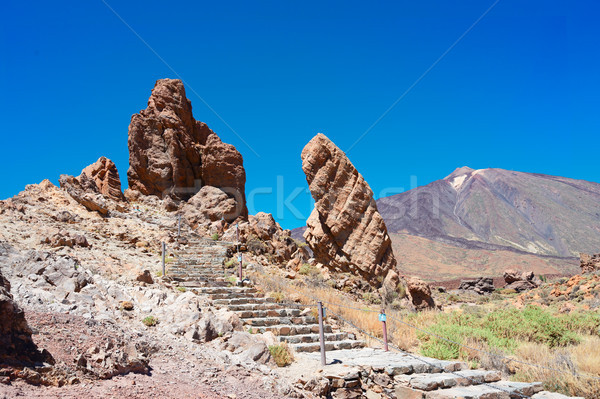 Tenerife île vallée ciel nature montagne Photo stock © neirfy