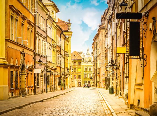 Edad calle gdansk Polonia barrio antiguo histórico Foto stock © neirfy