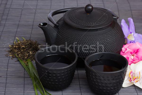 asian tea set Stock photo © neirfy
