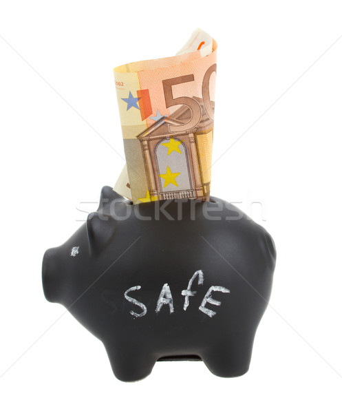 money pig with euro banknote Stock photo © neirfy