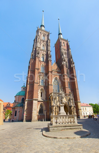 cathedral  church of  Wroclaw, Poland Stock photo © neirfy