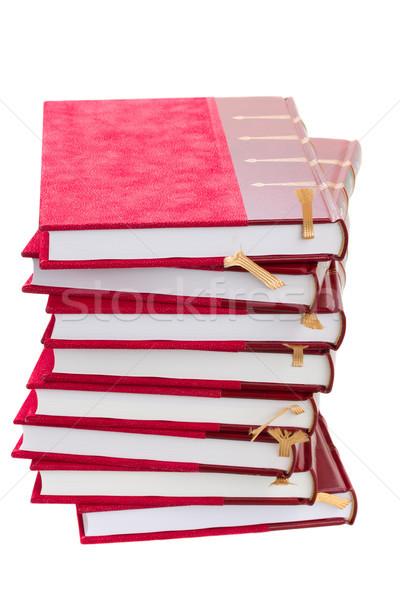 Książek twarda oprawa odizolowany biały szkoły Zdjęcia stock © neirfy