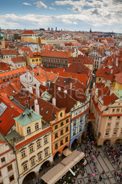 street in old town of Prague Stock photo © neirfy