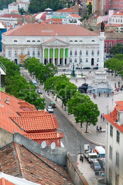 広場 リスボン 表示 ポルトガル 建物 ストックフォト © neirfy