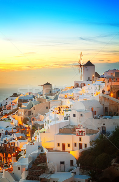 Oia village at night, Santorini Stock photo © neirfy