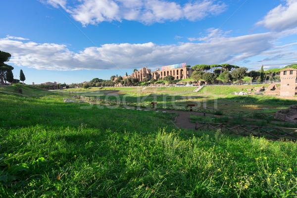 Forum - Roman ruins in Rome, Italy Stock photo © neirfy