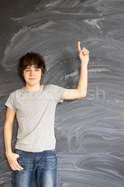 Stockfoto: Jongen · tiener · idee · lege · man