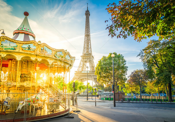 Stock photo: eiffel tour and from Trocadero, Paris
