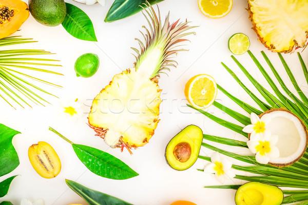 夏 ダイエット 新鮮な 果物 緑 熱帯 ストックフォト © neirfy