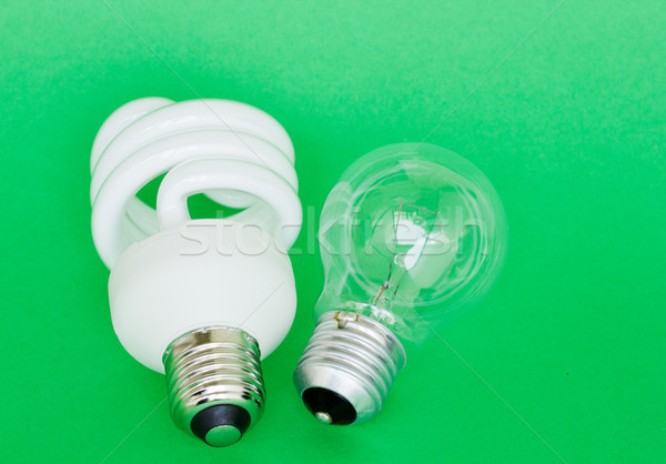 Lamba enerji floresan klasik ampul Stok fotoğraf © neirfy