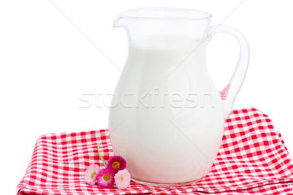 glass pitcher full of milk Stock photo © neirfy