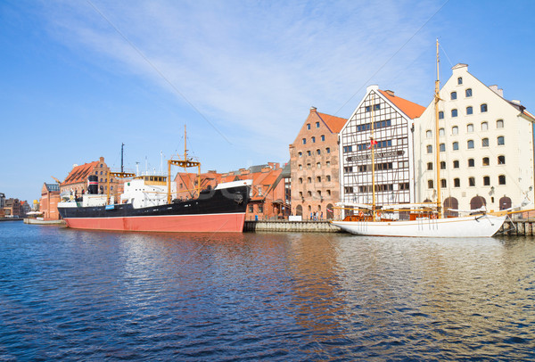 Central Maritime Museum in Gdansk at Motlawa river Stock photo © neirfy