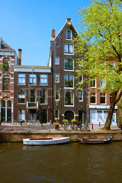 old houses in Amsterdam Stock photo © neirfy