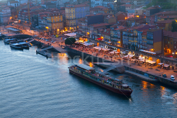 embankment in  old town of Porto, Portugal Stock photo © neirfy